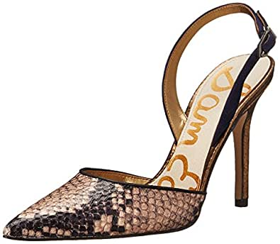 Sam Edelman Women's Dora Natural/Space Blue Sandal