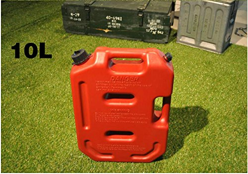 YOUNGFLY 10L Fuel Tank Cans Spare 2.5 Gallon Portable Fuel Oil Petrol Diesel Storage Gas Tank Emergency Backup for SUV ATV UTV Car Air Diesel (red,10L) by YOUNGFLY (Image #7)