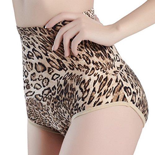 Aivtalk Mujer Postparto Bragas Braguitas Moldeadoras Relleno Alta Cintura Calzones Embellecer Cadera Bum Up Lucir Palmito - Leopardo 5 Tallas a Elegir Leopardo