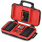 Camera Memory Card and Battery Storage Case, Sd Cf Cards Holder Organizer, Waterproof & Shockproof Plastic Cases for Nikon, Canon Cameras Batteries, Perfect for Outdoor Travel Use