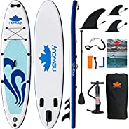 """NEWBUY Kayak Seat Supported, 3 Big Removable Fins, Stand Up Paddle Board 10'6""""x32""""x6""""(6&quo"""