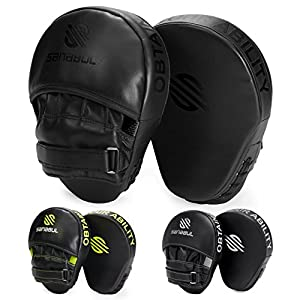 Sanabul Essential Curved Boxing MMA Punching Mitts 3