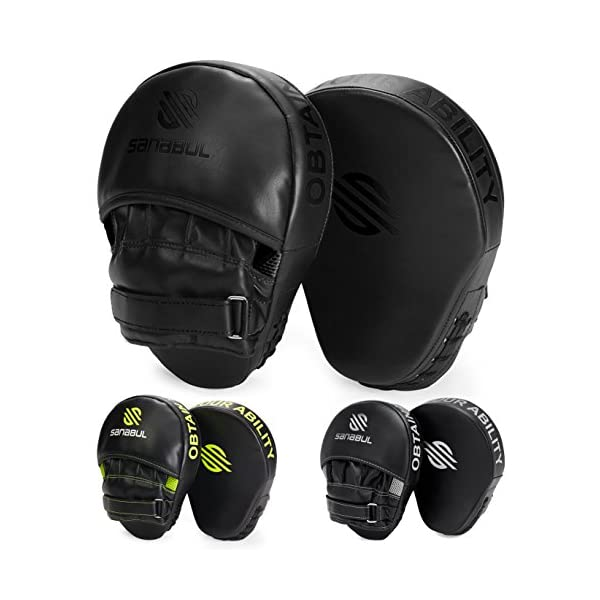 Sanabul Essential Curved Boxing MMA Punching Mitts 1