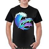 JDJ N1N Psychedelic Dolphins Man's 100% Polyester T Shirt Teeshirts