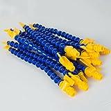 Vinmax 12pcs Lathe CNC Machine Adjustable Flexible Plastic Water Oil Coolant Pipe Hose 1/4'' PT