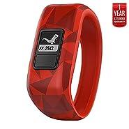 Garmin Vivofit Jr. Activity Tracker for Kids, Regular Fit - Broken Lava (010-01634-00) + 1 Year Extended Warranty