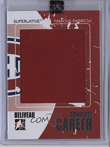 Jean Beliveau Manufacturer ENCASED Uncirculated #3/9 (Hockey Card) 2009-10 In the Game Superlative Volume 2 - Famous Fabrics Complete Career - Silver #CC-03 ()