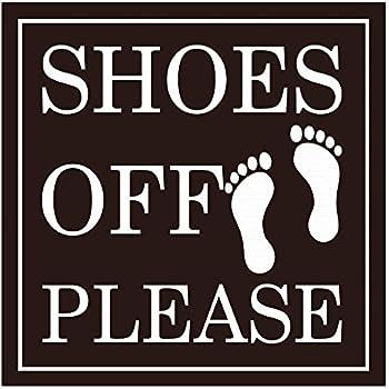 please take off your shoes sign home kitchen. Black Bedroom Furniture Sets. Home Design Ideas