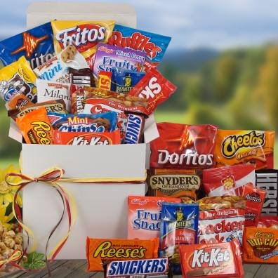 Snackstravaganza Deluxe Snack Gift Basket | College Student Gift Idea