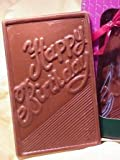 Happy Birthday Card in Solid Milk Chocolate