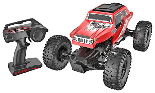 - danchee Trail Hunter 1/12 Scale Remote Control Rock Crawler Off Road Truck Toy, Red