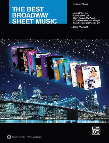 The Best Broadway Sheet Music For Piano Vocal