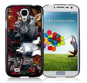 Custom-ized Phone Case Samsung S4 TPU Protective Skin Cover Christmas Kittens Black Samsung Galaxy S4 i9500 Case 1