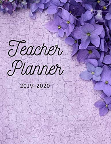 Teacher Planner: Elementary School Educator Purple 2019-2020 Academic Lesson Planner for Lesson Planning, Productivity, Time/Classroom Management Lesson Plan Calendar for School Year