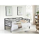 Hodedah HIDB909 BLACK Metal Bed, Black
