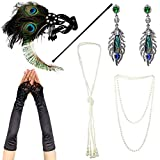 IETANG 1920s Accessories Themed Costume Mardi Gras Party Prop additions to Flapper Dress