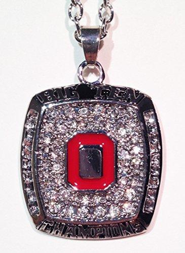 Ohio state buckeyes necklace jewelry charm chain pendant unisex ohio state buckeyes necklace jewelry charm chain pendant unisex ohio state memorabilia 2010 big aloadofball Gallery
