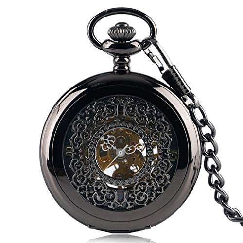Vintage Steampunk Roman Number Quartz Pocket Watch Retro Necklace Pendant With Chain For Men Women Reloj De Bolsillo Gifts 6 Thick chain from Lseetime
