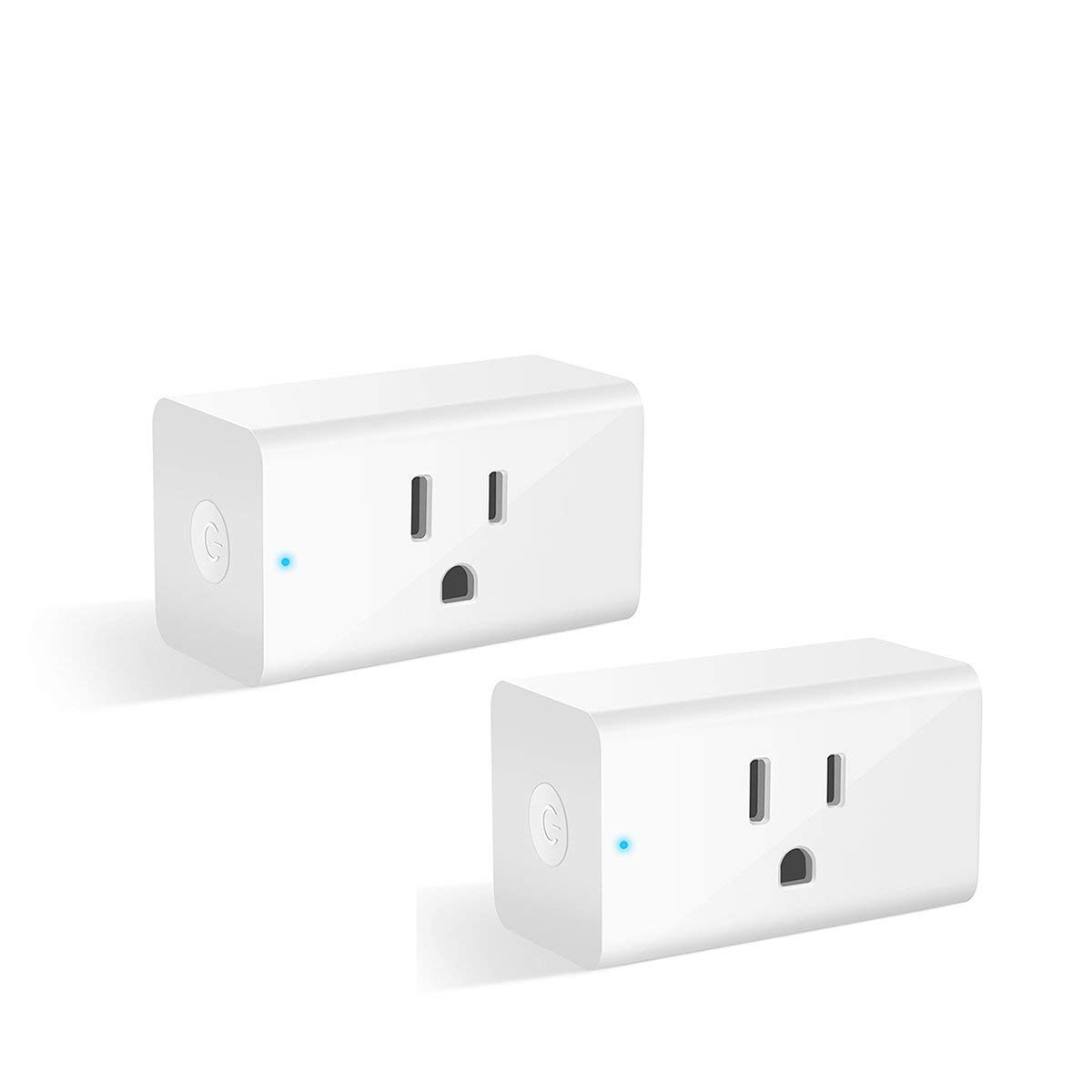 Smart Plug, Alexa Wifi Outlet Smart Plugs for Smart Home App Remote Control  Outlets (AC 110-125V/16A/1800W), No Hub Required Electrical Socket