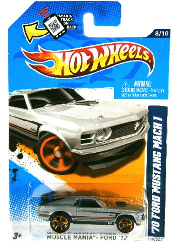 118 Scale Diecast Model - '70 FORD MUSTANG MACH 1 Hot Wheels 1:64 Scale Collectible Die Cast Car #118/247