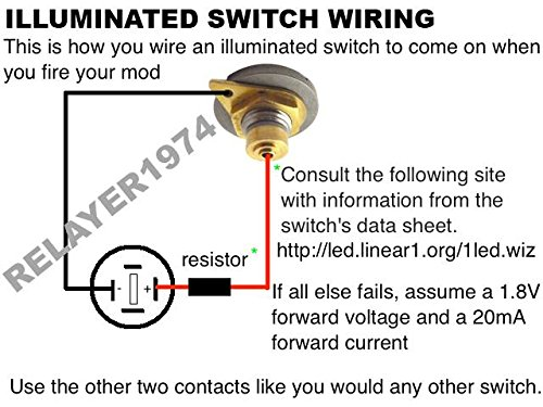 Amazon Alpinetech 16mm 58 AntiVandal ORing LED 28V18V – Lighted Momentary Switch Wiring Diagram