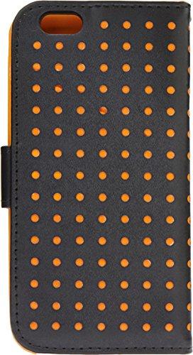"""LD Case A000977 Etui portefeuille pour iPhone 6 4,7"""" Noir/Orange"""