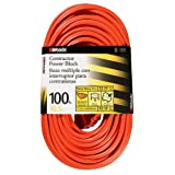 Woods 820 12/3 100-Foot Outdoor Multi-Outlet Extension Cord (Orange)