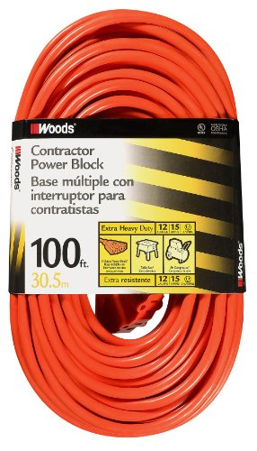 Coleman Cable Systems Woods 0820 12/3 Outdoor Multi-Outle...
