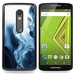 For Motorola Verizon DROID MAXX 2 / Moto X Play - fog black white mesmerizing fluid /Modelo de la piel protectora de la cubierta del caso/ - Super Marley Shop -