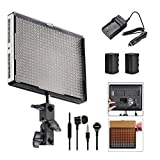 Aputure Amaran AL-528W 528 LED Photography Photo Video light Panel LED lighting Kit with Batteries and Battery Charger for Photo Video Studio