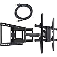 VideoSecu Articulating Full Motion Large TV Wall Mount Bracket for most 60 65 70 75 80 82 85 88 Sharp Vizio Samsung LED LCD OLED Plasma TV 24 inch Extension Max Loading up to 135 LBS 1B0