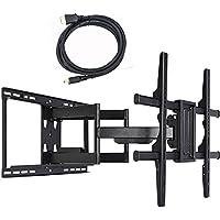 VideoSecu Articulating Full Motion TV Wall Mount Bracket for most Vizio 40 43 48 50 55 60 65 70 75 80 M65-E0 D65-E0 P65-E1 E65-E0 E65-E1 E70-E3 M70-E3 E75-E3 M75-E1 P75-E1 E80-E3 LED LCD TV C8F