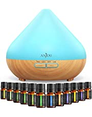 Anjou Diffuser with Essential Oils Gift Set