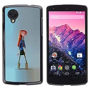 Ihec Tech Uniforme Chica Geek Escuela de Arte Dibujo / Funda Case back Cover guard / for LG Nexus 5 D820 D821