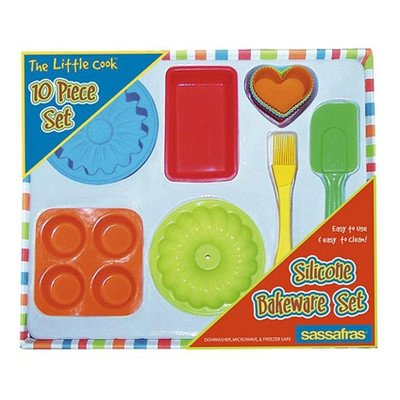 10 Piece The Little Cook Silicone Bakeware Set (Supplies Bakeware)