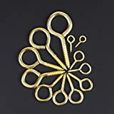 DYWISHKEY 240PCS 12 Sizes Brass Plated Steel Eye