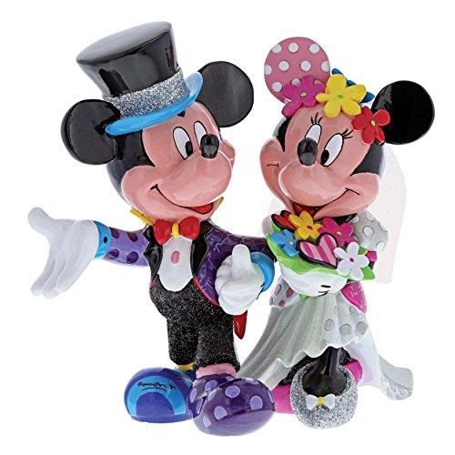 Mouse Minnie Wedding Mickey (Enesco Disney by Britto Mickey Mouse and Minnie Mouse Wedding Stone Resin Figurine)