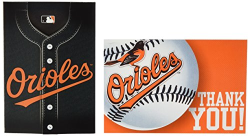 Amscan Baltimore Orioles Collection Party Invitation & Thank You Card Set, 192 Ct.