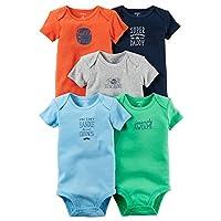 Carter's Baby Boys 5-Pack Mr. Sunshine Bodysuits 12 Months
