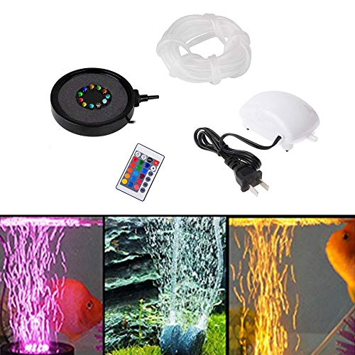 Aquarium Air Pump with Accessories,Aquarium Bubble Light Fish Tank Bubbler Light ,LED Aquarium Air Bubble Light Air…