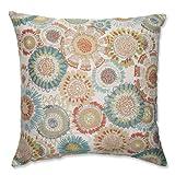 Pillow Perfect Maggie Mae Aqua Floor Pillow, 24.5-Inch, Multicolored