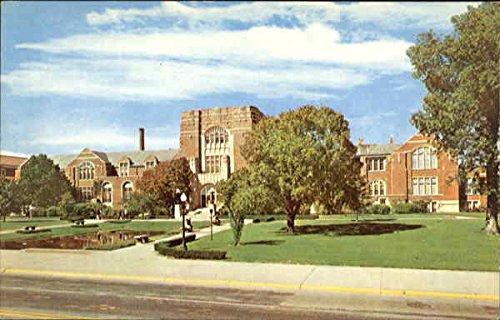 purdue memorial union building purdue university west lafayette indiana original vintage postcard