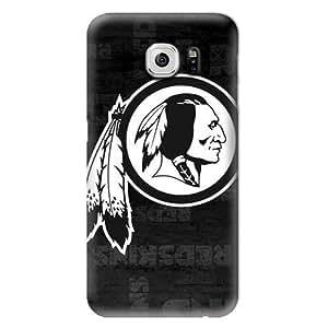 S6 Case, NFL - Washington Redskins Black & White - Washington Redskins - Samsung Galaxy S6 Case - High Quality PC Case