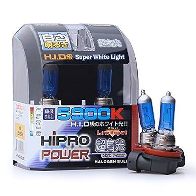 Hipro Power H8 35Watt 5900K Super White Xenon HID Halogen Fog Light Bulbs