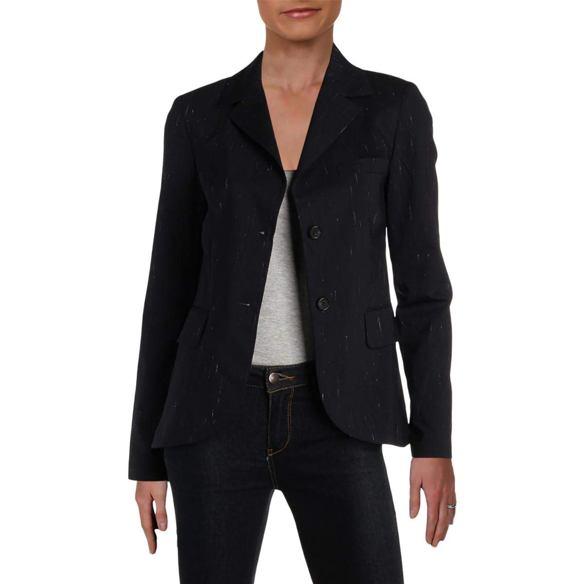 Jil Sander Navy Womens Fitted Suit Seperates Two-Button Blazer