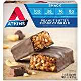 Atkins Snack Bar, Peanut Butter Fudge Crisp, 5 Count