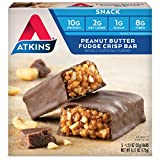 Atkins Snack Bar, Peanut Butter Fudge Crisp, Keto Friendly, 5 Count