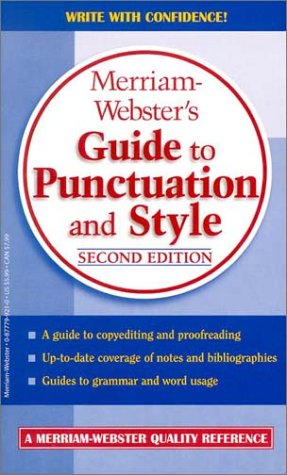 Book : Merriam-Webster's Guide to Punctuation and Style