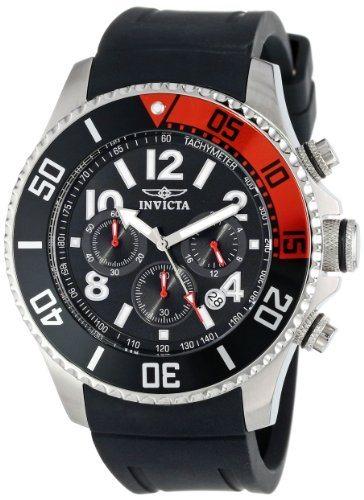 Invicta Men's 15145 Pro Diver Stainless Steel Watch With Black Polyurethane Band (Watch Single Chrono)