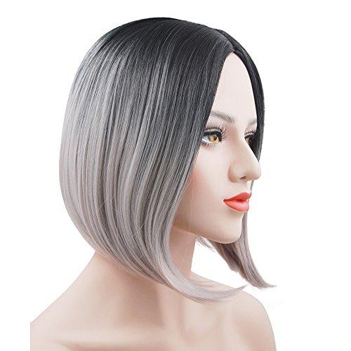 eNilecor Silver Grey Short Bob Wigs, 12